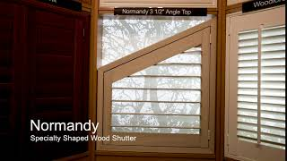 Normandy Specialty Shaped Wood Shutter