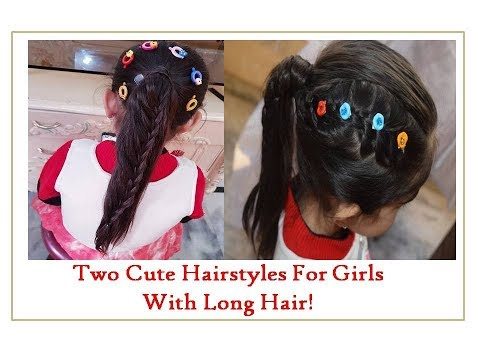 two-hairstyles-for-girls||-hairstyles-for-long-hair||-simple-and-cute-hairstyles||braiding