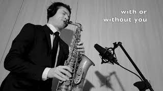 With or without you - U2 - Alto Sax RMX - free score and ringtone