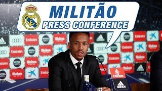 LIVE | Éder Militão's first Real Madrid press conference!