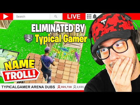 I Stream Sniped Typical Gamer with his own NAME! (Fortnite TG Plays)