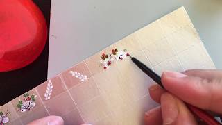 Adesivos de unhas na caixa de leite: Passo a passo margaridas brancas com botão