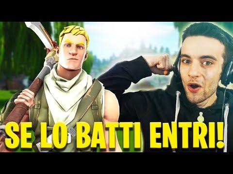 """🔴SE BATTI QUESTO """"PRO"""" ENTRI NEL MIO CLAN! Live Fortnite ITA thumbnail"""