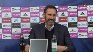 Rueda de prensa de Vicente Moreno tras el Real Zaragoza vs RCD Mallorca (2-2)