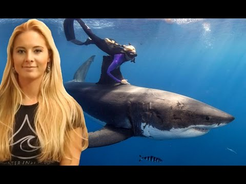 Ocean Ramsey dives with Sharks for Conservation, Water Inspired ENGLISH SUBTITLES