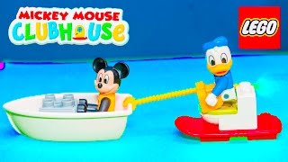 Unboxing the Lego Duplo Mickey Mouse Beach House with the Assistant