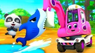 Bayi Panda & Mobil Pengeruk Mencari Harta Karun | Lagu Anak-...