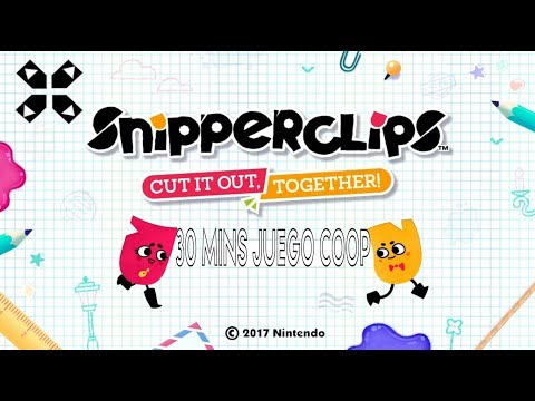 Snipperclips: Cut It Out, Together! - Nintendo Switch 30 Mins. COOP