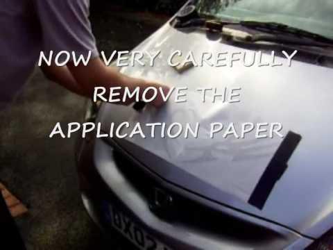 CAR BONNET STICKER / DECAL APPLICATION