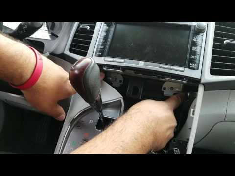 How To Remove Radio / Navigation / Display From Toyota Venza 2009 For Repair.