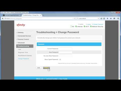 How to change the wifi password on my xfinity router