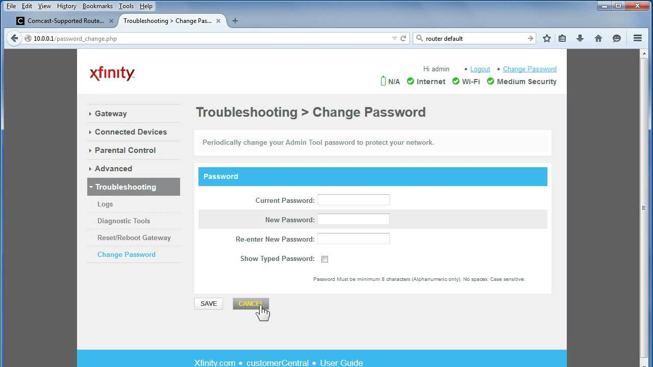 How to Find Xfinity Router Default Username and Password?