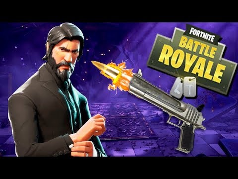 Fortnite Battle Royale Gameplay German - Legendary Gun mit John Wick
