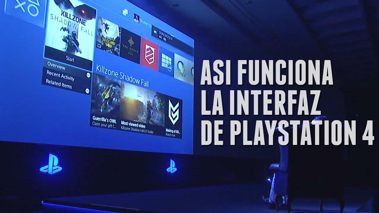 Así funciona la interfaz de PLAYSTATION 4 - Los menús de PS4