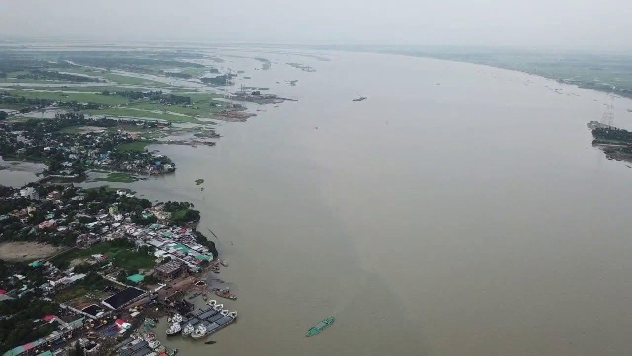 Tri bridge Bangladesh aerial view