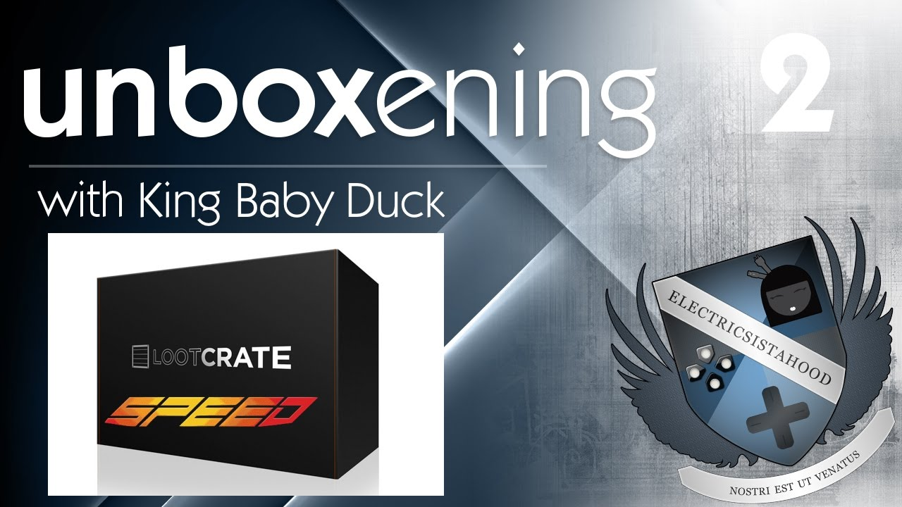 the unboxening loot crate september 2016 speed box youtube