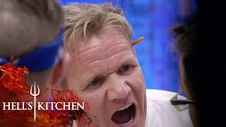 Clueless Chef Wanders Around The Kitchen | Hell's Kitchen