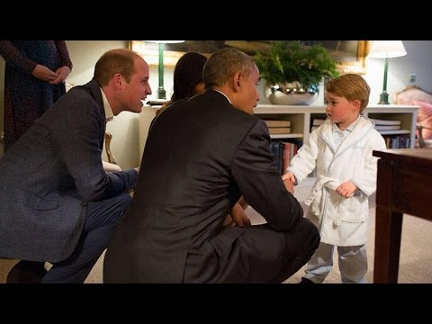 Prince George Meets President Obama In His Pajamas --- See The Adorable Photos!