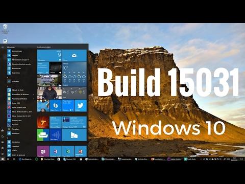 Build 15031 Windows Insider Creators Update en español