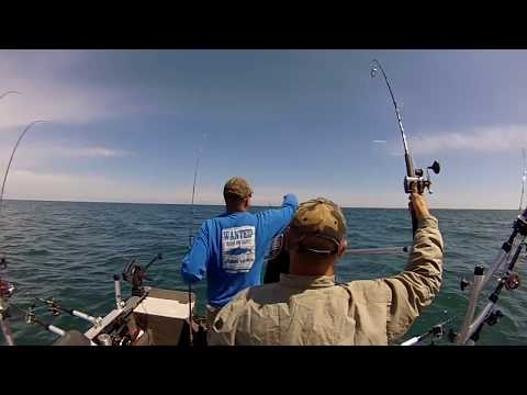 Salmon Fishing Blue Door Tournament with Team Blackout Kewaunee Wisconsin 2017
