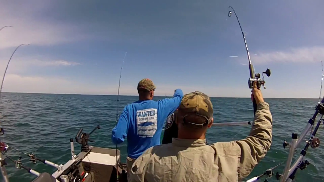 Salmon fishing blue door tournament with team blackout for Salmon fishing wisconsin