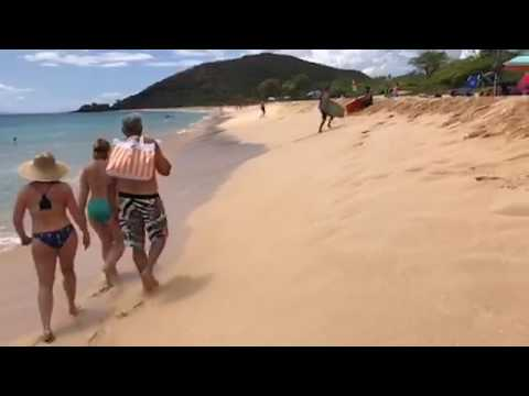 Shore Breaks Makena State Park Big Beach Waves Maui
