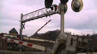 Really bad railroad crossing malfunction