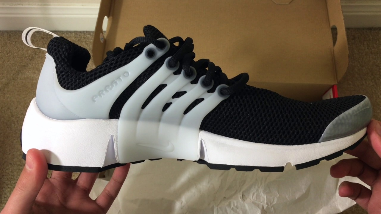 NIKE Air Presto - black and white - Unboxing + On feet