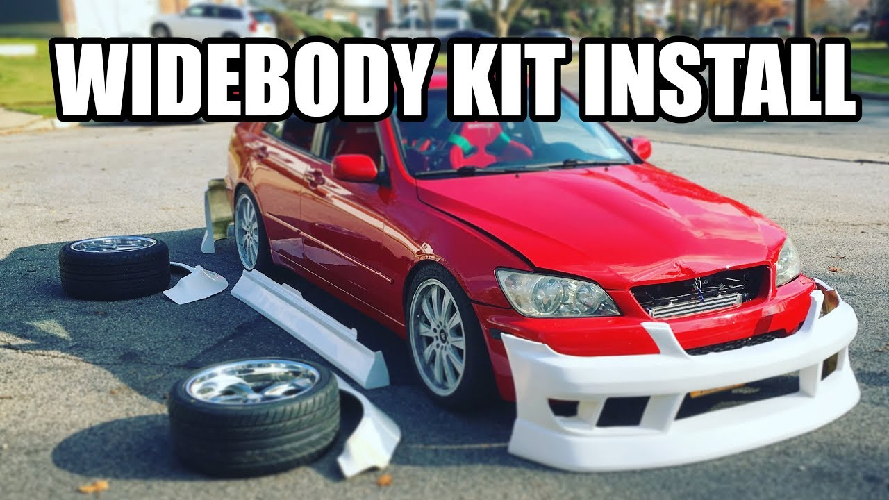 IS300 Drift Project Part 8: Widebody Install