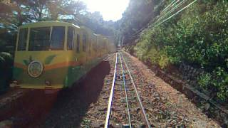 高尾山 ケーブルカー 上り【清滝駅】→【高尾山駅】