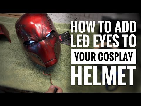 How to add LED eyes to your cosplay helmet and armor