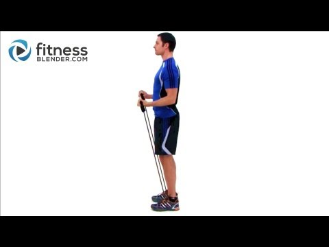 Bicep & Tricep Super Set Workout Resistance Band Exercises