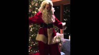 Santa singing gospel