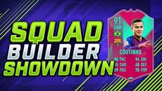 INSANE 91 RATED FUT BIRTHDAY COUTINHO SQUAD BUILDER SHOWDOWN vs AJ3 🔥