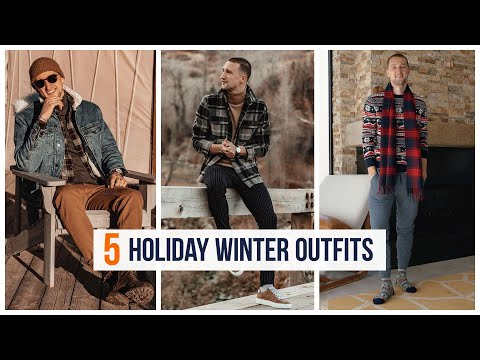 5 Holiday Winter H&M Outfits   Men's Fashion   Outfit Inspiration