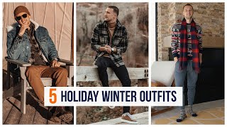 5 Holiday Winter H&M Outfits | Men's Fashion | Outfit Inspiration