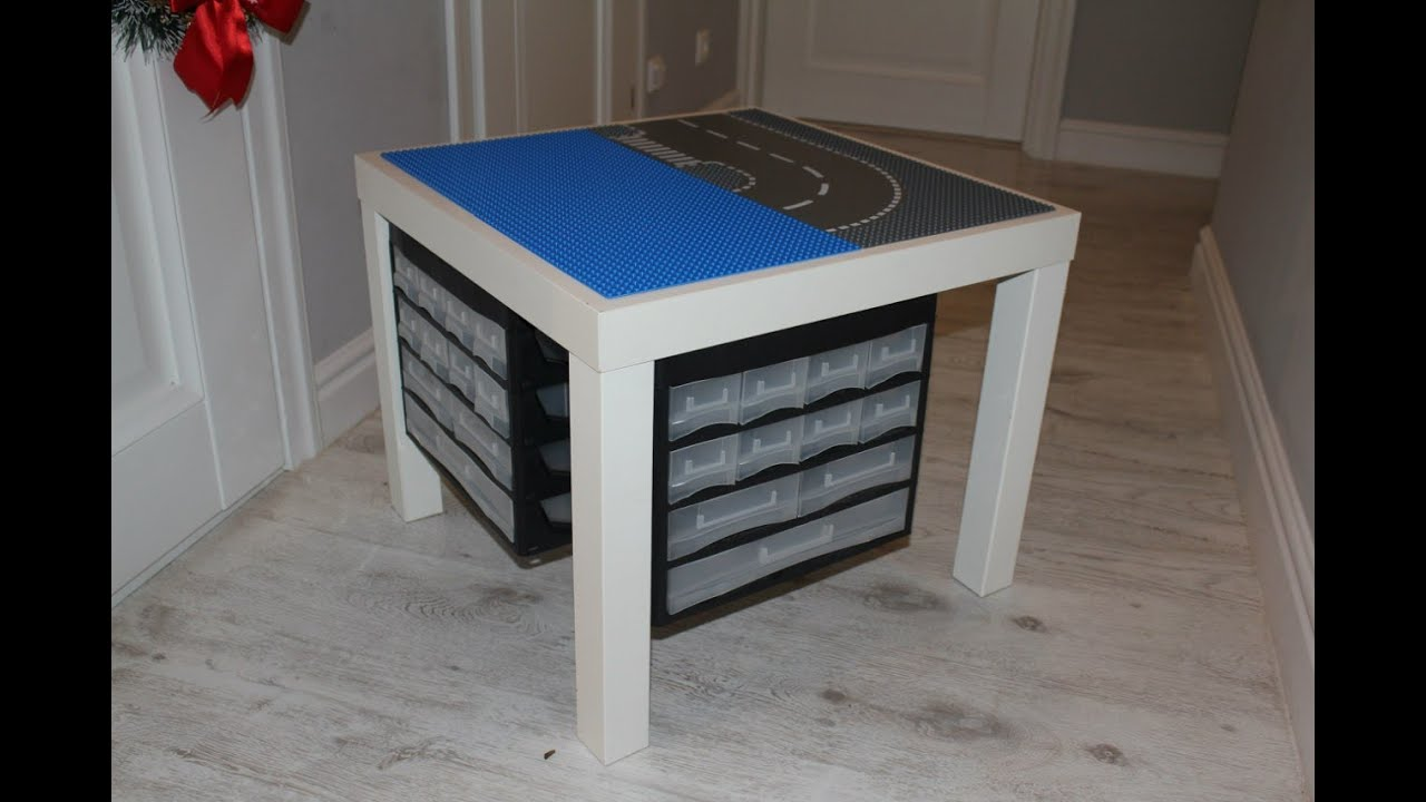 diy lego stand lego table youtube. Black Bedroom Furniture Sets. Home Design Ideas