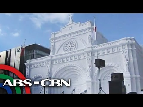 Manila Cathedral made of snow in Japan