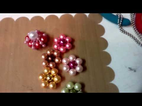 Handmade bead flowers, Angels and way to many stick pins. Thanks Leeann & Fiona