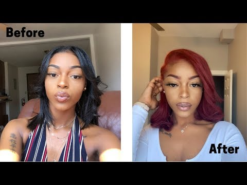 How To Dye Dark Hair Bright Red WITHOUT Bleach| Myah B