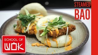 Light & Fluffy Chinese Bao Bun Recipe with Crispy Chicken! | Wok Wednesdays