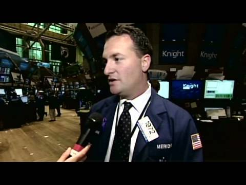 NYSE traders react to volatility