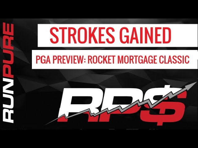 STROKES GAINED PGA PREVIEW   ROCKET MORTGAGE CLASSIC 6-30-20