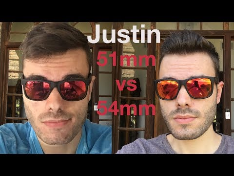 Ray Ban Justin 51mm Vs 54mm Youtube