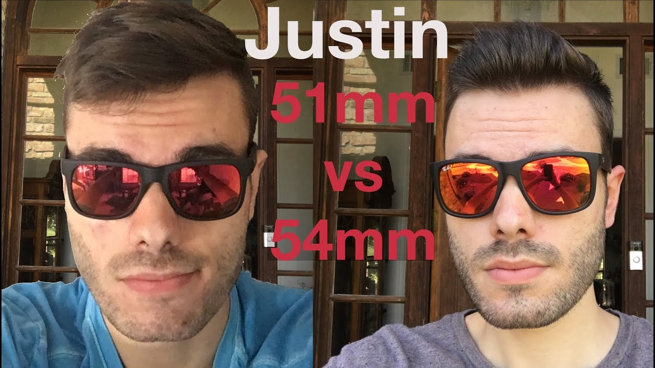 030dd2f47a Ray-Ban Justin 51mm vs 54mm - YouTube
