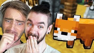 Our New Minecraft Fox Loves Me WAY More w/ Pewdiepie