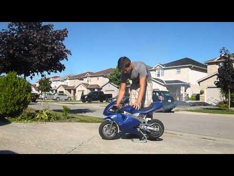 *** 50cc Dual Exhaust Blue Pocket Bike For Sale  ***