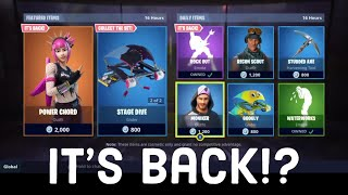 Fortnite Recon Scout and Power Chord skins are back?