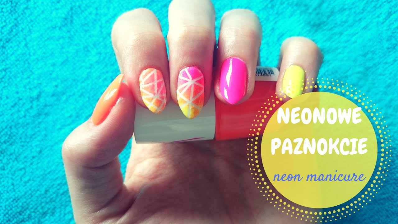Neonowe Paznokcie Neon Manicure Youtube