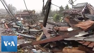 Japan Typhoon Destroys Several Houses